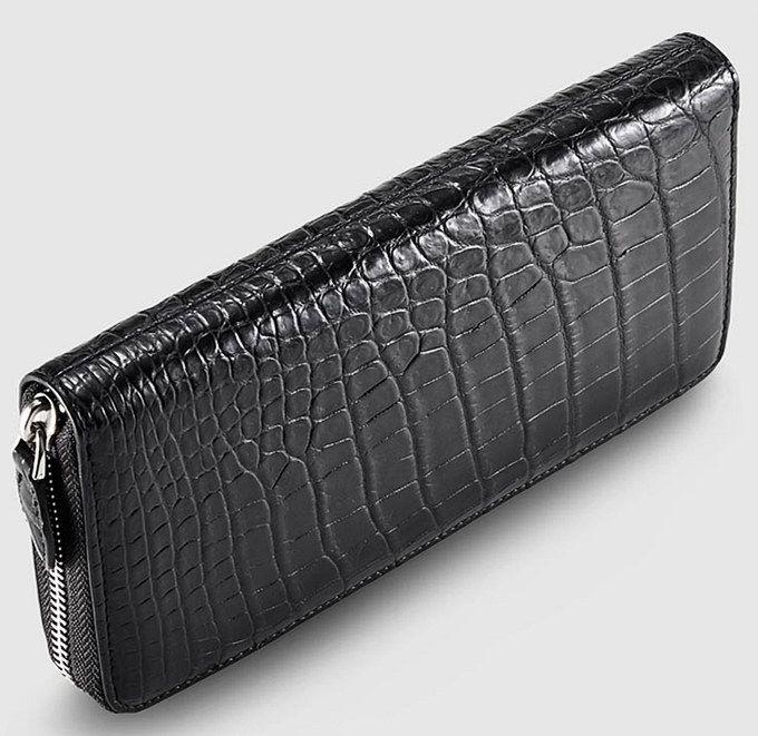 Classic Black Genuine Alligator Wallet-Top