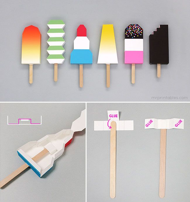 To Get you in a Summer Mood, Enjoy those Free Paper Ice Creams that Never Melt. l #DIY #origami