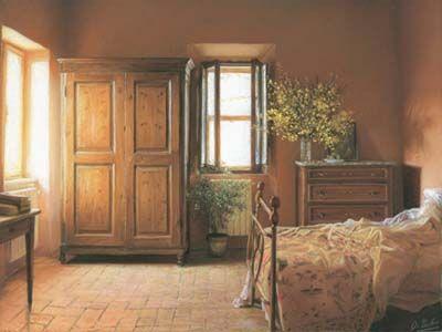 Tuscan bedroom! I just love Italian - decor!