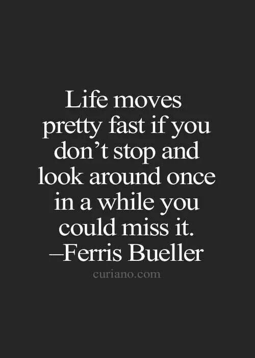 Ferris Bueller Life Moves Pretty Fast Quote Adorable The 25 Best Life Moves Pretty Fast Ideas On Pinterest  Ferris