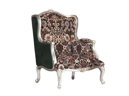 Fat Boy Arm Chair Excl Fabric And Chord - Silver Finish Measurements 760 x 760 x 1000