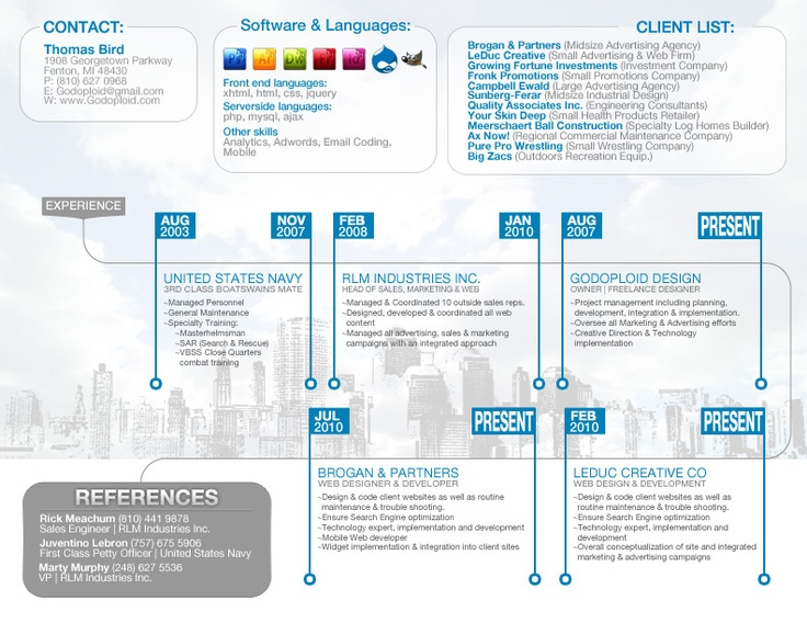 My New Resume by Thomas Bird, via Behance CV Pinterest - resume search engine
