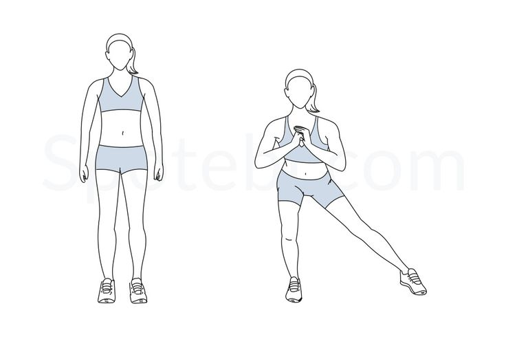 The side lunge adds a lateral movement that is often neglected in more traditional lower body exercises, such as squats and forward or backward lunges. This lateral movement targets the inner and outer thighs and helps to strengthen and tone those areas of your leg. This is also an excellent move to strengthen your quads, hamstrings and glutes, which makes the side lunge a very complete lower body exercise. http://www.spotebi.com/exercise-guide/side-lunge/