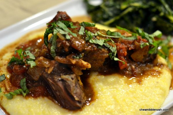 Rustic Italian Braised Boneless Short Ribs - Slow cooker magic!  #recipe at Chew Nibble Nosh