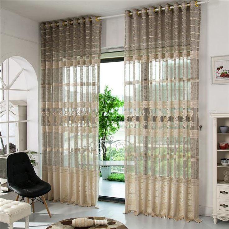 25 melhores ideias de cortinas transparentes no pinterest for Cortinas transparentes salon