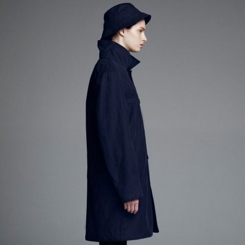 Stutterheim Inferno coat in blue