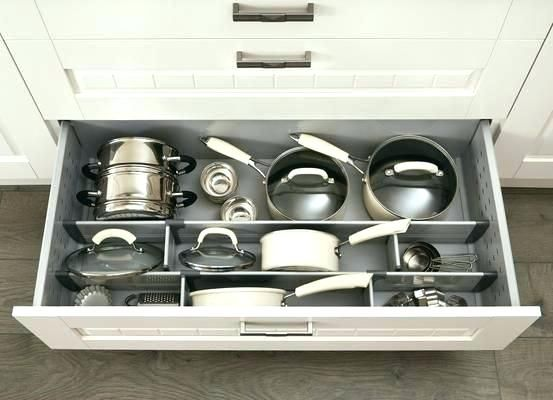 Pots And Pans Drawer Organizer Pots And Pans Drawer Organizer Pan Drawer Divider Kit General Idea F Diy Kitchen Storage Kitchen Storage Kitchen Cabinet Storage
