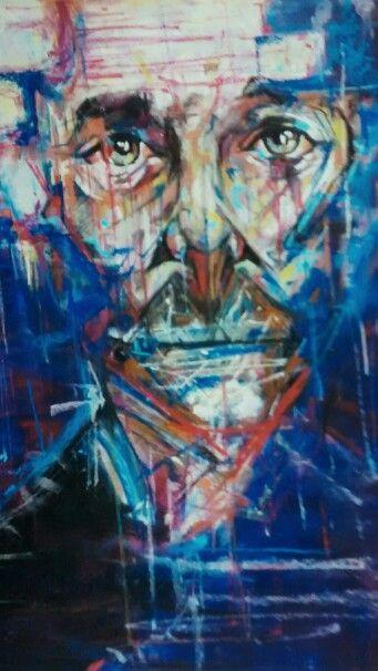 Detail from Dimitris portrait.