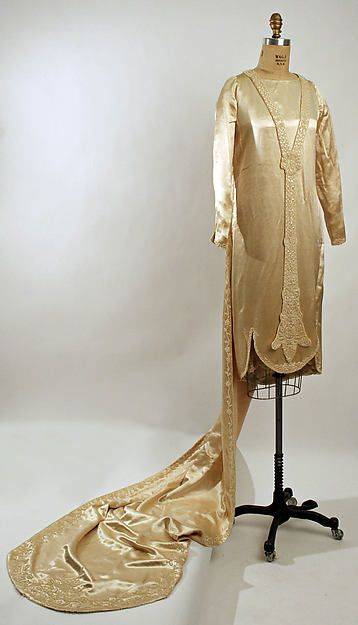 1926-28 French Silk Wedding Dress at the Met