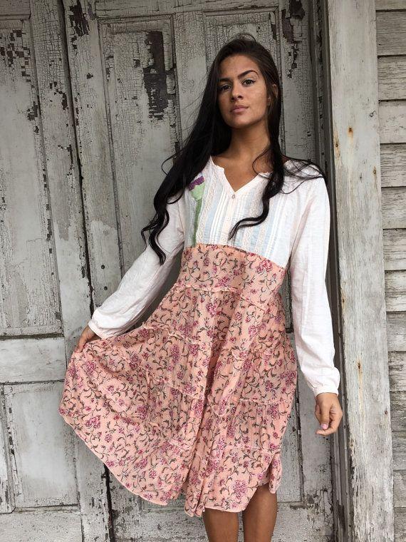 RESERVED-Pia dress-small medium-artsy-Eco clothing-upcycled