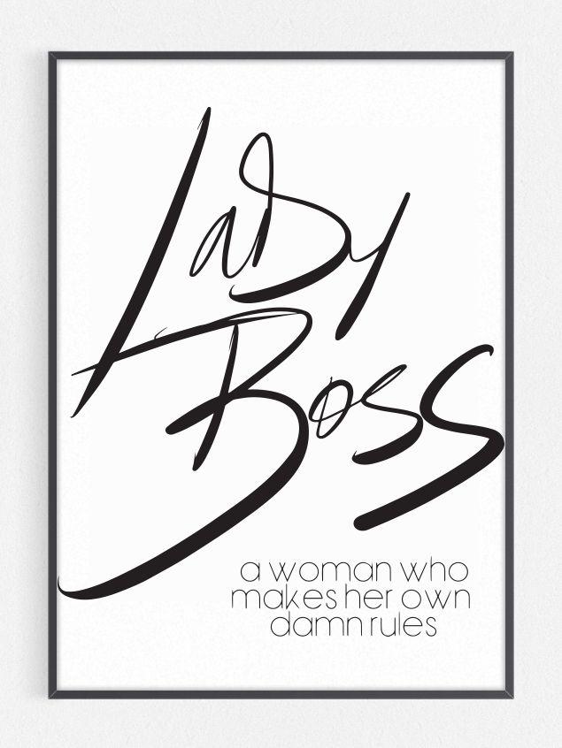 Lady Boss Print