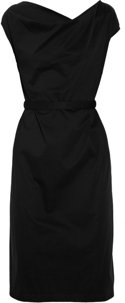 Pinned this in white a while back, but I love it in black! Jil Sander.