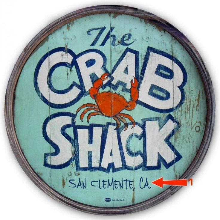 Personalized Crab Shack barrel end