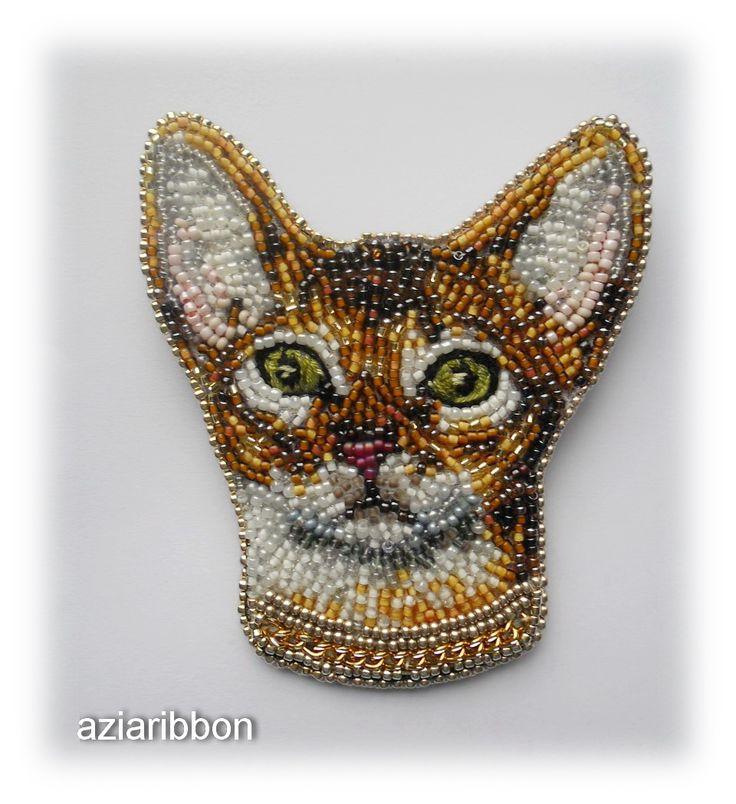 "Брошь ""Абиссинская кошка"" | biser.info - всё о бисере и бисерном творчестве"