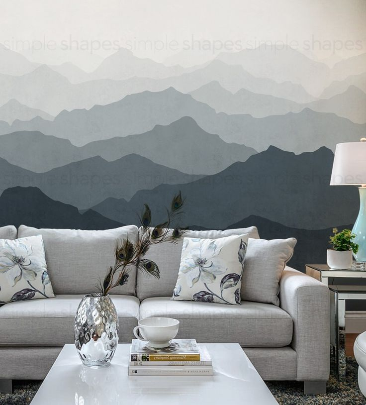 25 best ideas about mountain wallpaper on pinterest for Diy mountain mural