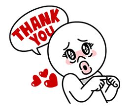 Image result for thank you line stickers