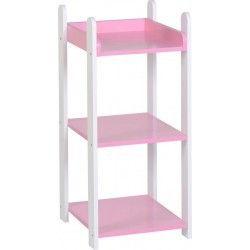 Lollipop 3 drawer Shelf, Pink 3 drawer shelf unit, kids 3 drawer shelf unit, 3 Drawer shelf unit lollipop, shelf unit, white 3 drawer shelf unit, pink 3 drawer shelf unit, cork furniture, irish furniture, dublin furniture.