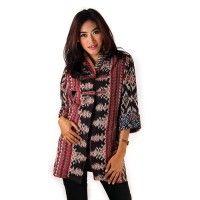 Blus Rangrang Tulis Batik Trusmi Cirebon, Koleksi Batik Wanita Batik Trusmi Cirebon Paduan Gaya Batik dan Model Yang Berkelas, Blus Rangrang Tulis Bat