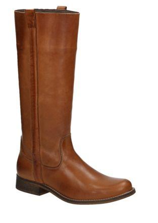 Online Shoes 1419 cognac hoge laarzen