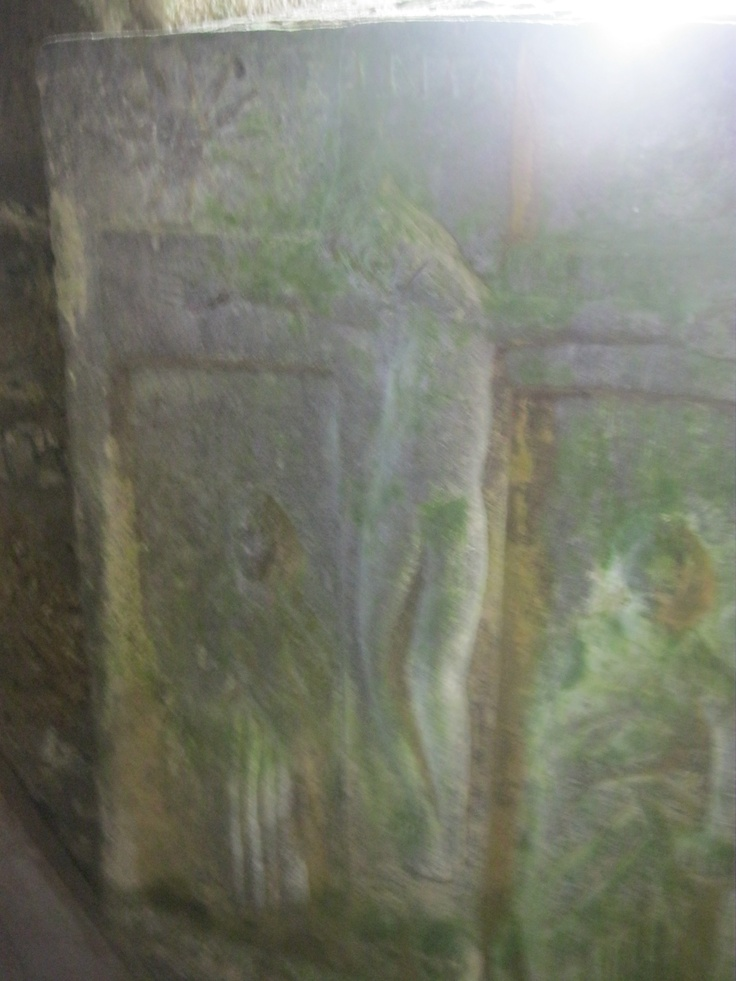 Carving inside the mausoleum in Fore.