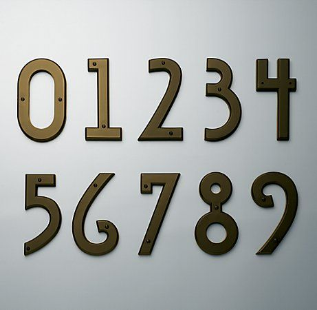 LOVE these house numbers!  Art Deco mission style...perfectly what I was thinking!