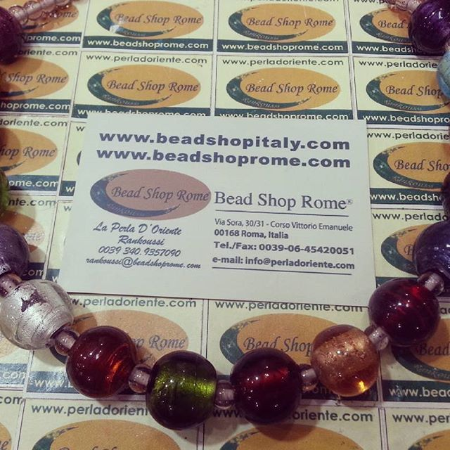 16 Colors Silver Foil Glass Beads WWW.BEADSHOPITALY.COM