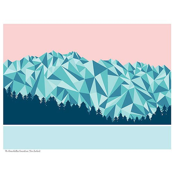 The Remarkables by New Zealand Artist Bridget Hall. Available at kapa.co.nz