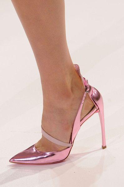 Pink metallic heels, Christian Dior, Spring 2013                                                                                                                                                      Mais