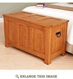 Blanket Chest Woodworking Plan, Indoor Home Bedroom Furniture Project Plan   WOOD Store