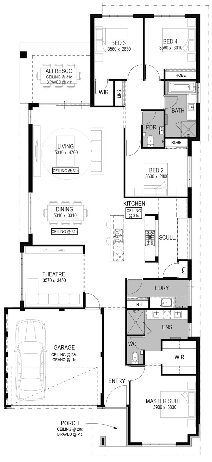 The Cascia Floorplan by National Homes