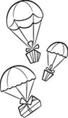 IMPRONTE D'AUTORE - STAMPING - PRODOTTI - TUTTO TIMBRI - 1583-P Regali col paracadute