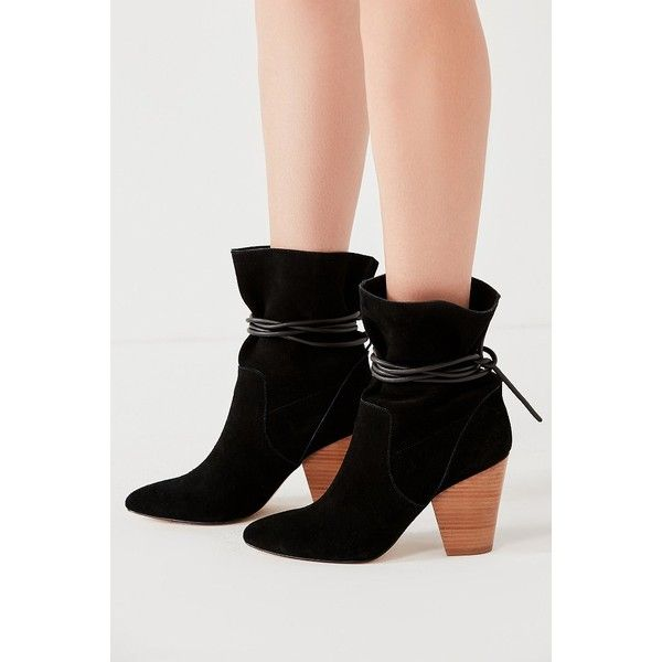 Carla Slouch Ankle Boot (77 AUD) ❤ liked on Polyvore featuring shoes, boots, ankle booties, short slouch boots, tie booties, slouchy ankle boots, slouch ankle boots and block heel ankle boots
