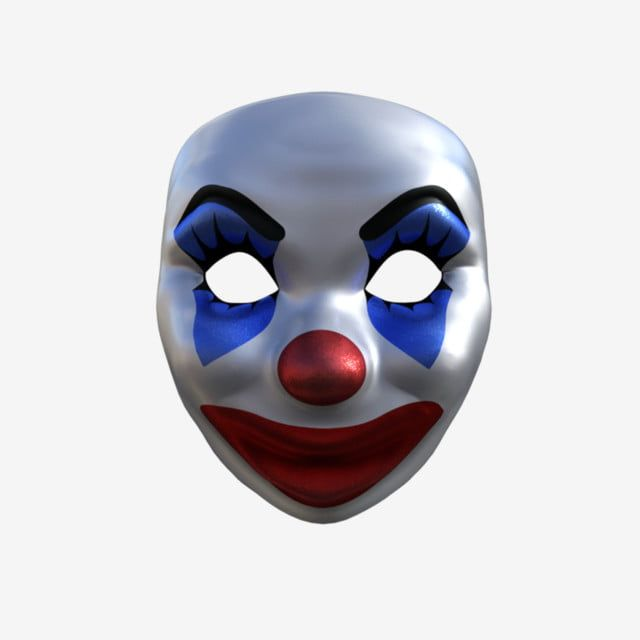 Mask Clown Accessories Mask Clown Clown Clipart Mask Clipart Tapabocas Clown Wattpad Cover Template Props Illustration