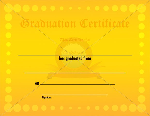 11 best graduation certificate images on pinterest certificate graduation yellow circles certificate certificate templatescircleshigh schoolsgraduationhigh schoolmoving on yadclub Choice Image