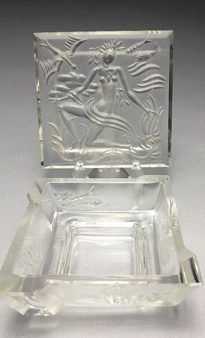 Schlevogt Pre-war Czech Glass Wiener Werkstatte Vally Wieselthier Dresser Box