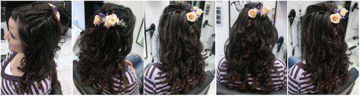 Ha virágos a kedvünk :-)  Esküvői haj, gyönyörű :-)   www.magdiszepsegszalon.hu/fodraszat