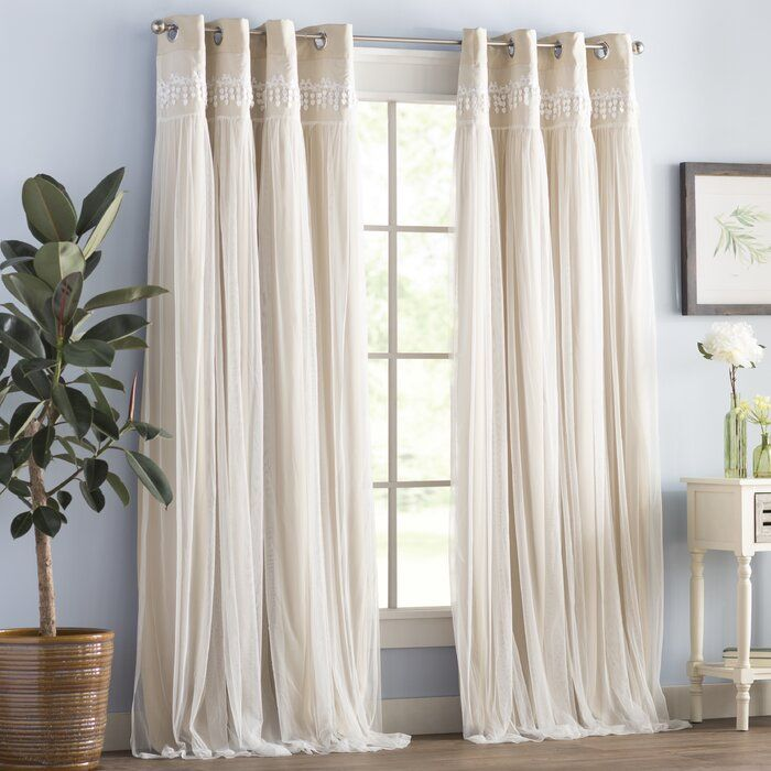 Loar Solid Blackout Thermal Grommet 2 Curtains Drapes In 2020