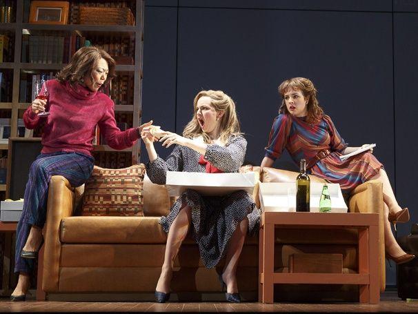 Ali Ahn as Susan Johnston, Leighton Bryan as Lisa & Elise Kibler as Denise in 'The Heidi Chronicles.' Photo by Joan Marcus.