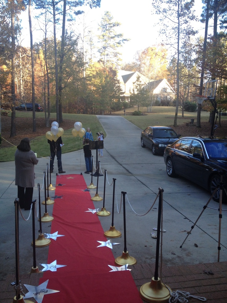 Red carpet birthday party! Complete with paparazzi, newspaper journalists, and fans needing autographs!