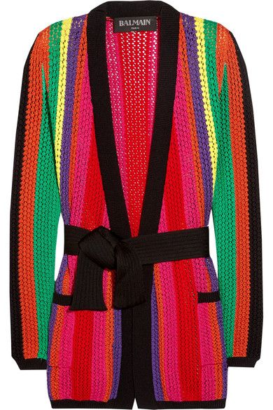 Multicolored open-knit  Slips on 83% viscose, 17% polyamide Dry clean Made in Italy