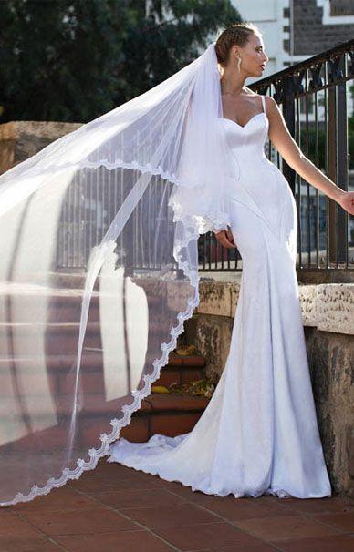 Свадебные платья Nurit Hen русалка со шлейфом | смотреть фото цены купить