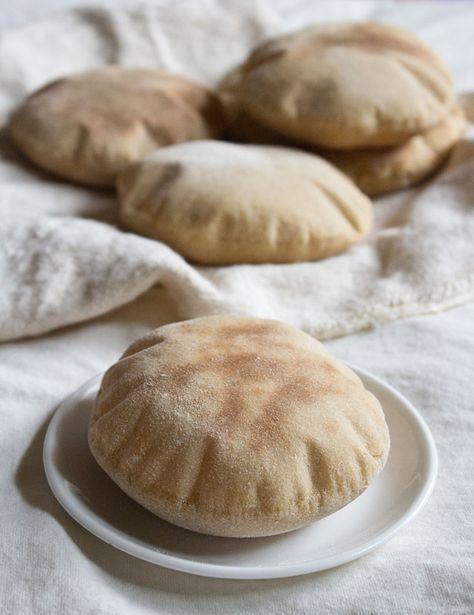 pita bread recipe, how to make pita bread | whole wheat pita bread