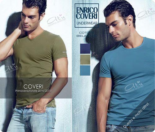 T-shirt Uomo Coveri Homewear! La nuova collezione primavera/estate 2015. T-SHIRT COLLO A V e T-SHIRT GIROCOLLO in cotone Bielastico Nei colori Coveri dedicati all'estate 2015: COBALTO - SALVIA - PETROLIO #t-shirt #coveri #moda  http://www.atyintimoonline.it/69-coordinati-moda-intimo-uomo