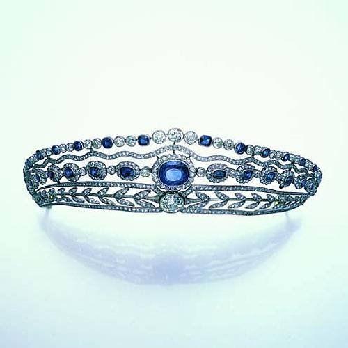 Belle Epoque sapphire tiara bandeau