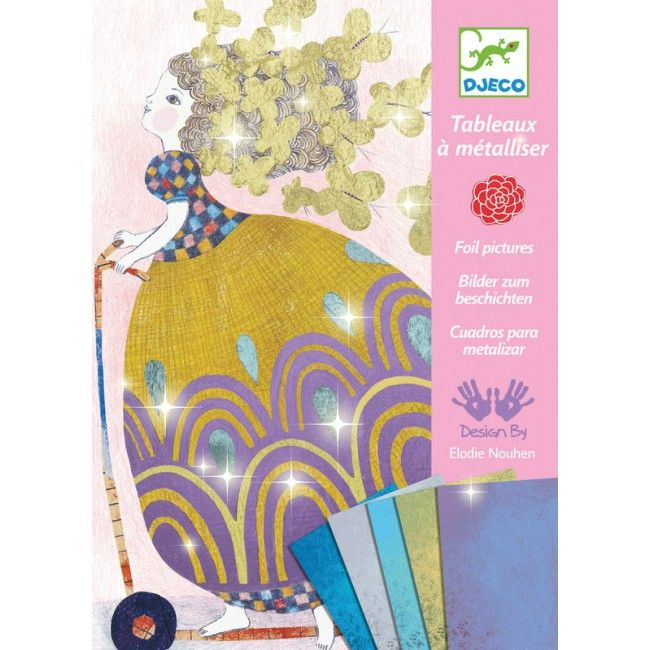 Djeco - Craft Kit Foil Pictures Pretty Dolls #Entropywishlist #pintowin Something sparkly for my big girl!