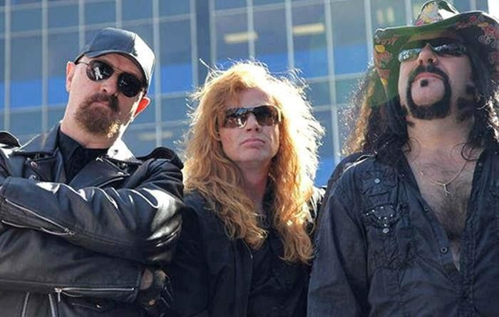 Rob Halford (Judas Priest) Dave Mustaine (Megadeth) & Vinnie Paul (Pantera)