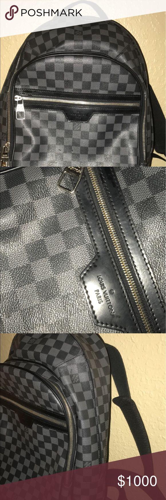 Louis Vuitton bookbag Black and gray back pack Louis Vuitton Bags Backpacks