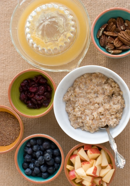 Breakfast Compote - time to get serious about eating whole grains.