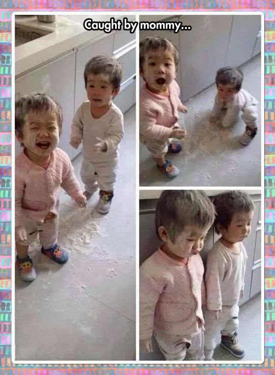 From Flour Fun To Timeout In Seconds the cuteness is killing me.