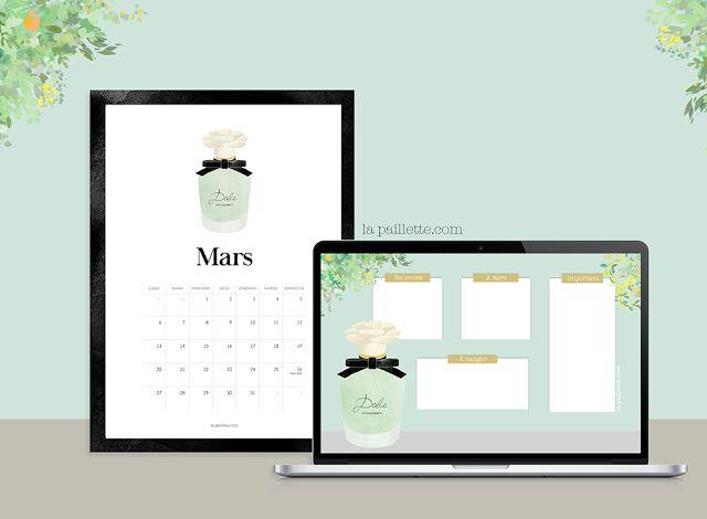La Paillette - Blog Rennes - Claire, illustratrice et graphiste rennaise, bonnes adresses: Calendrier Mars & fond d'écran organisé